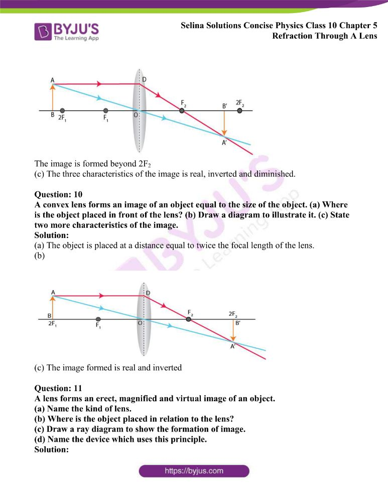 Selina Solutions Concise Physics Class 10 Chapter 5 Refraction Through A Lens 23