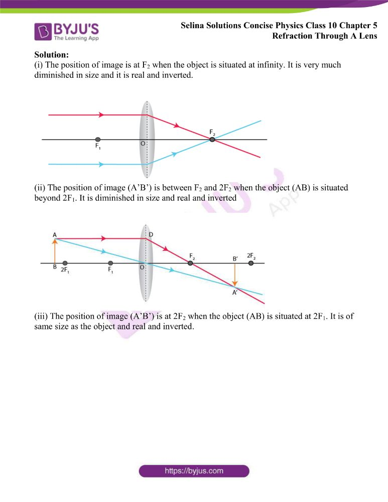 Selina Solutions Concise Physics Class 10 Chapter 5 Refraction Through A Lens 30