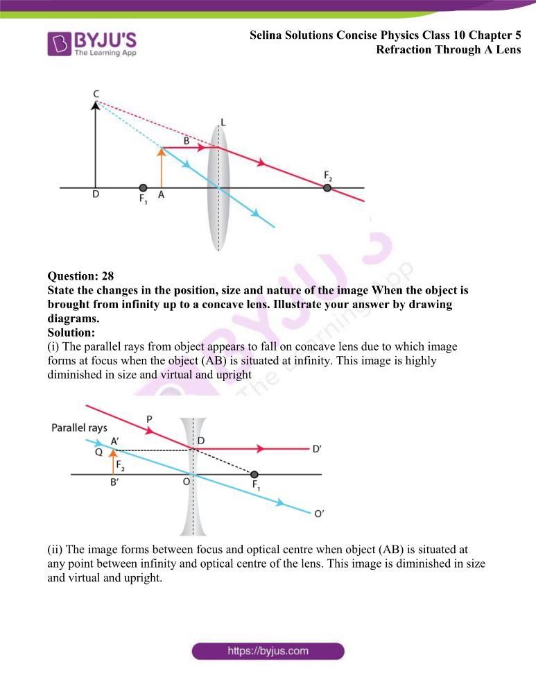 Selina Solutions Concise Physics Class 10 Chapter 5 Refraction Through A Lens 32