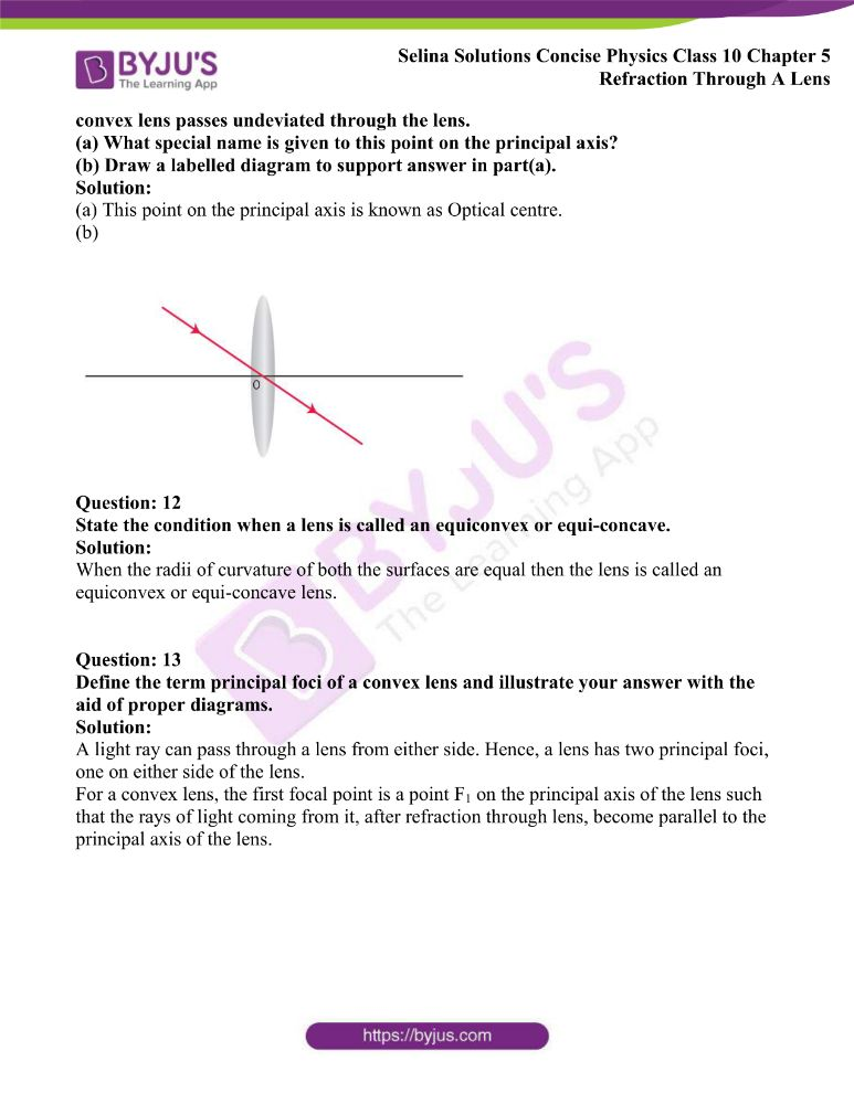 Selina Solutions Concise Physics Class 10 Chapter 5 Refraction Through A Lens 4