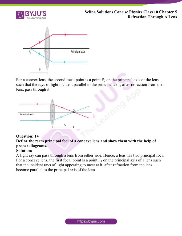 Selina Solutions Concise Physics Class 10 Chapter 5 Refraction Through A Lens 5