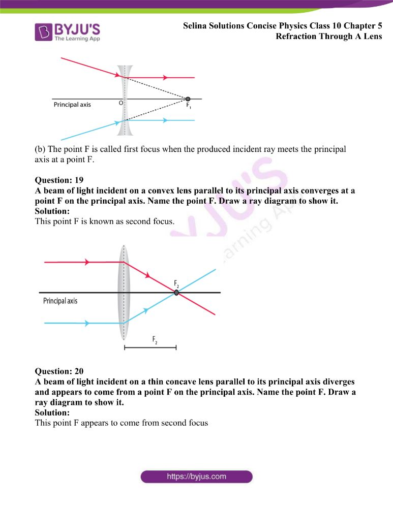 Selina Solutions Concise Physics Class 10 Chapter 5 Refraction Through A Lens 8