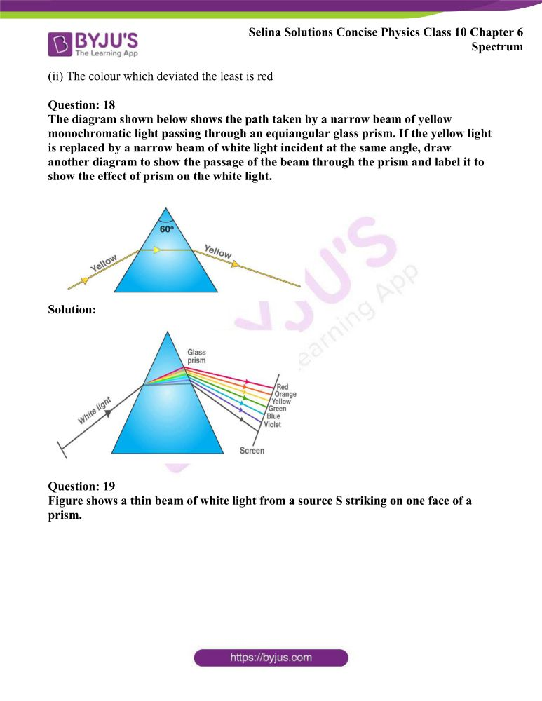 Selina Solutions Concise Physics Class 10 Chapter 6 Spectrum 4