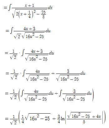 Algebraic Integrals Example