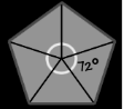 Central angle of a pentagon