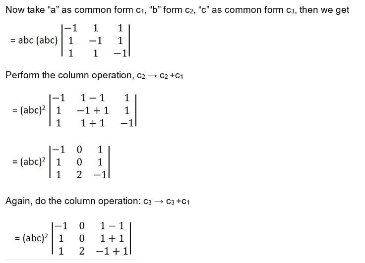 Important Questions for Class 12 Maths Chapter 4 Determinants