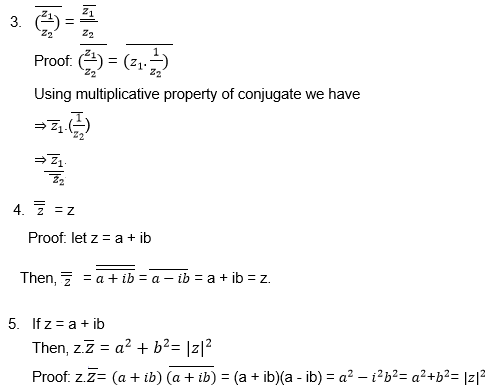 Complex Numbers Conjugate Properties
