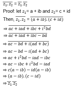 Conjugate of Complex Number Property