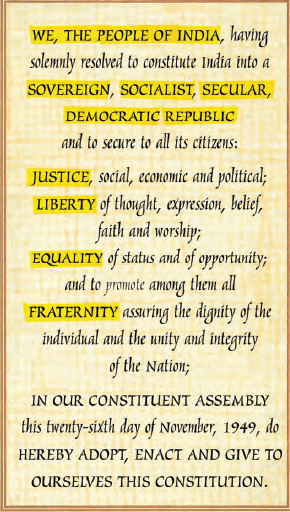 Constitution of India-Preamble