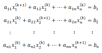 Jacobian Method Formula