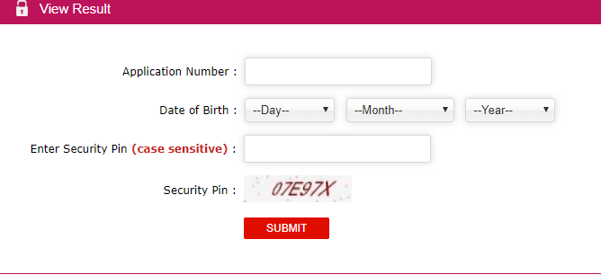 JEE Main Results View-Login Options