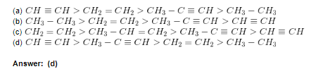 MCQs on Hydrocarbons 1