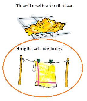 NCERT Solutions Class 1 English Unit 2 Poem After a Bath - 4