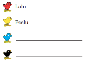 NCERT Solutions Class 1 English Unit 3 Story Lalu and Peelu - 1