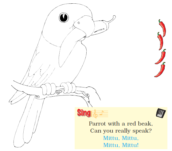 NCERT Solutions Class 1 English Unit 4 Story Mittu and the Yellow Mango - 1