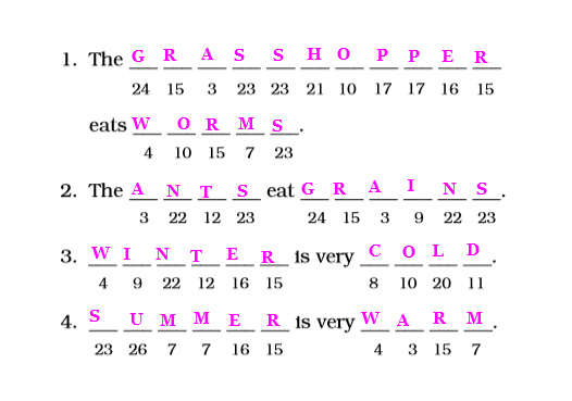 NCERT Solutions Class 2 English Unit 10 Story The Grasshopper and the Ant-4