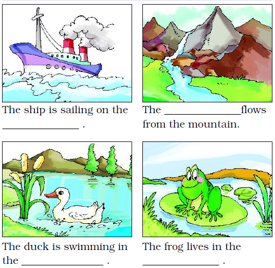 NCERT Solutions Class 2 English Unit 4 Poem Rain - 8