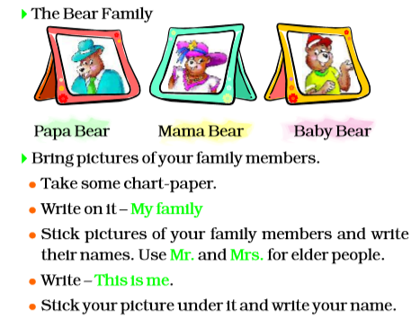 NCERT Solutions Class 2 English Unit 6 Story Curlylocks and the Three Bears-1