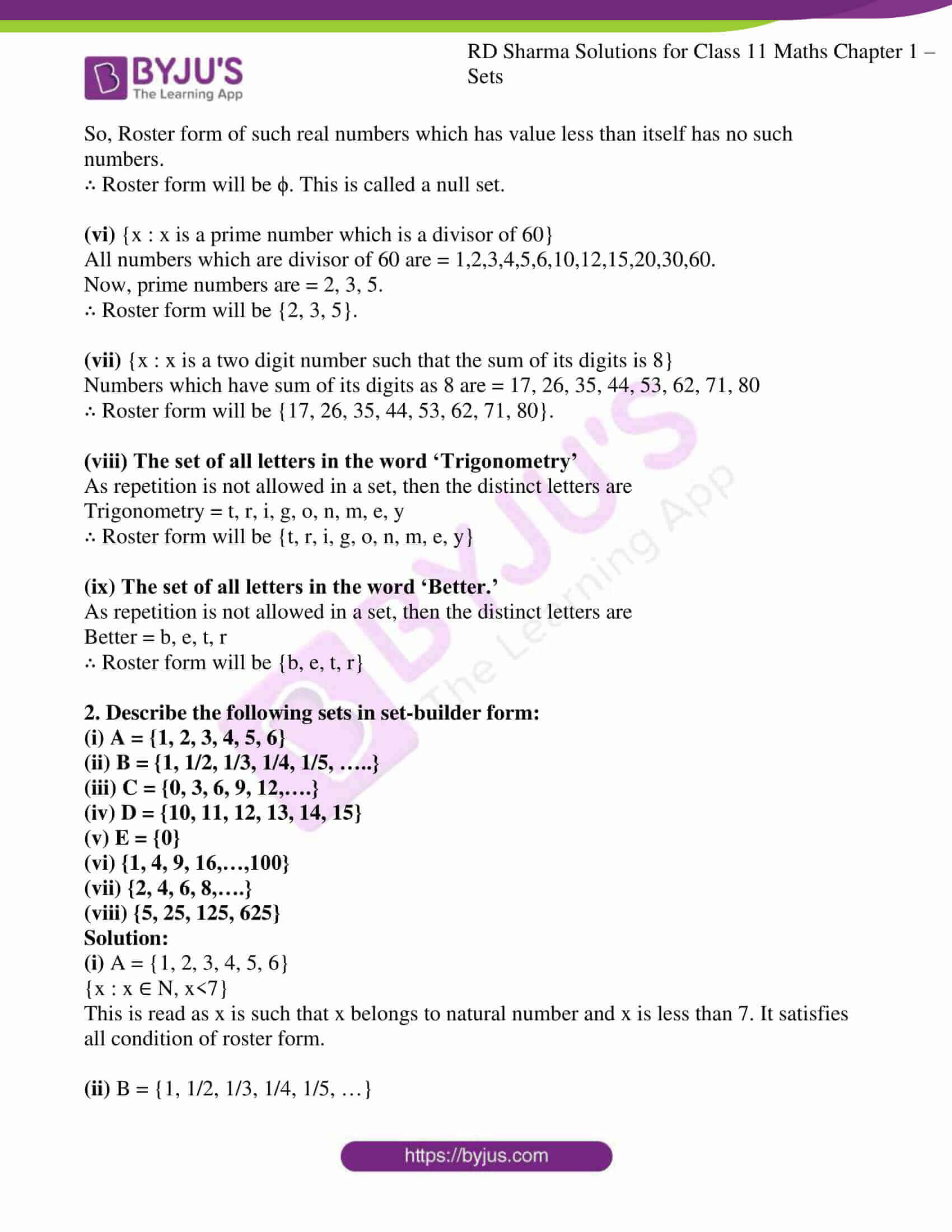 rd sharma class 11 maths ch 1 sets ex 2 2