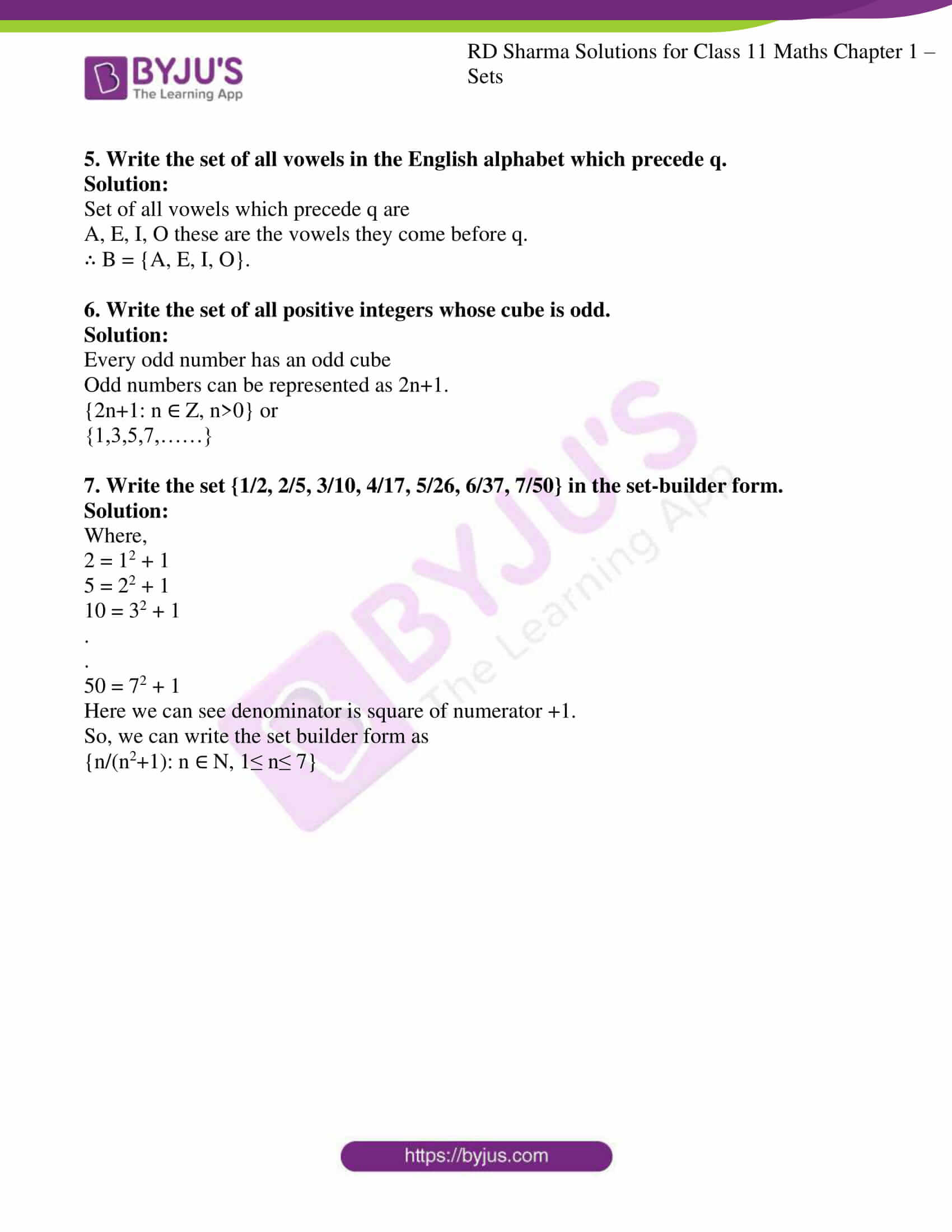 rd sharma class 11 maths ch 1 sets ex 2 6