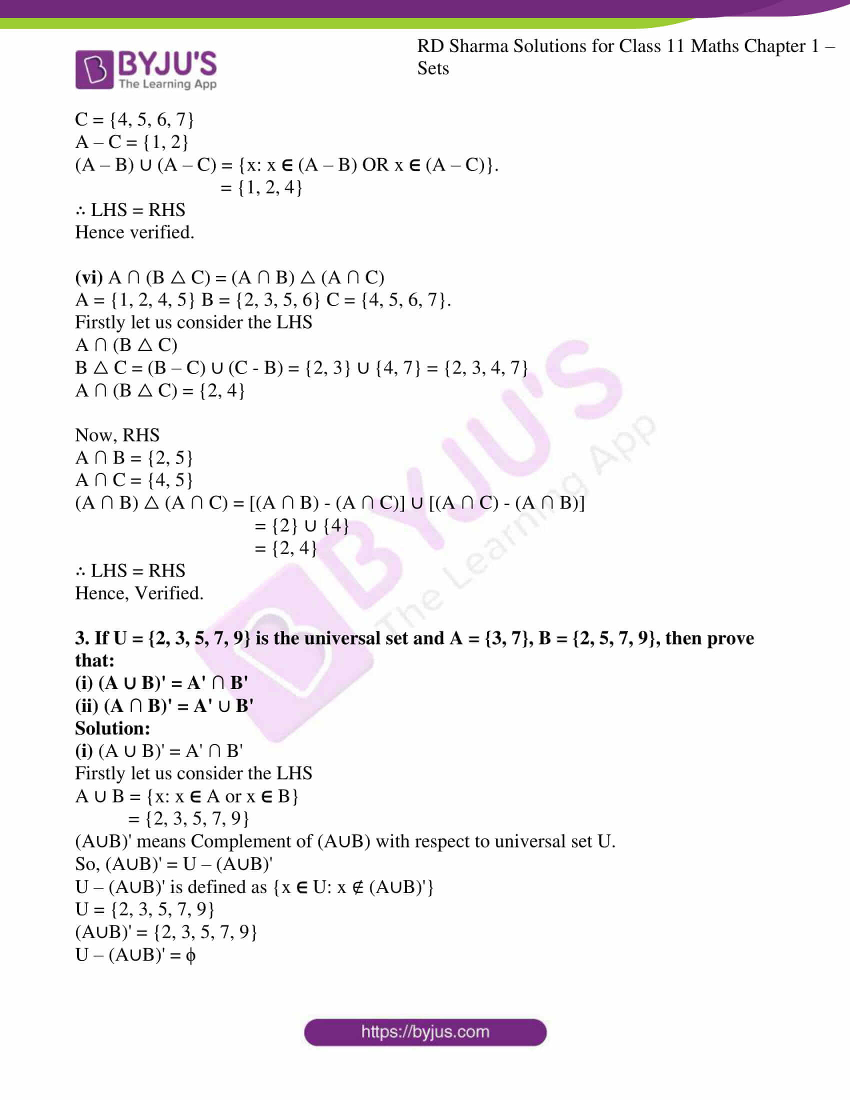 rd sharma class 11 maths ch 1 sets ex 6 4