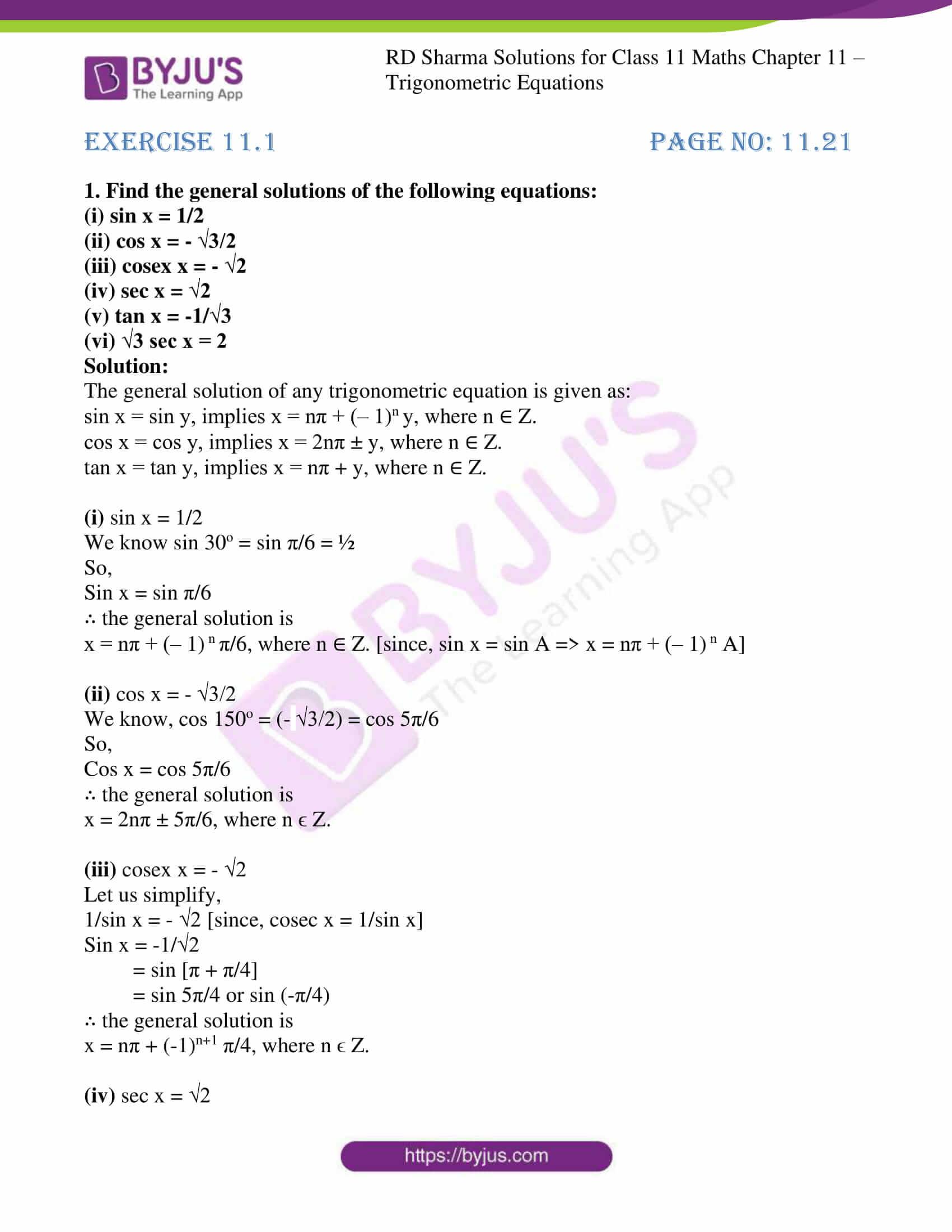 rd sharma class 11 maths ch 11 trigonometric eq 01