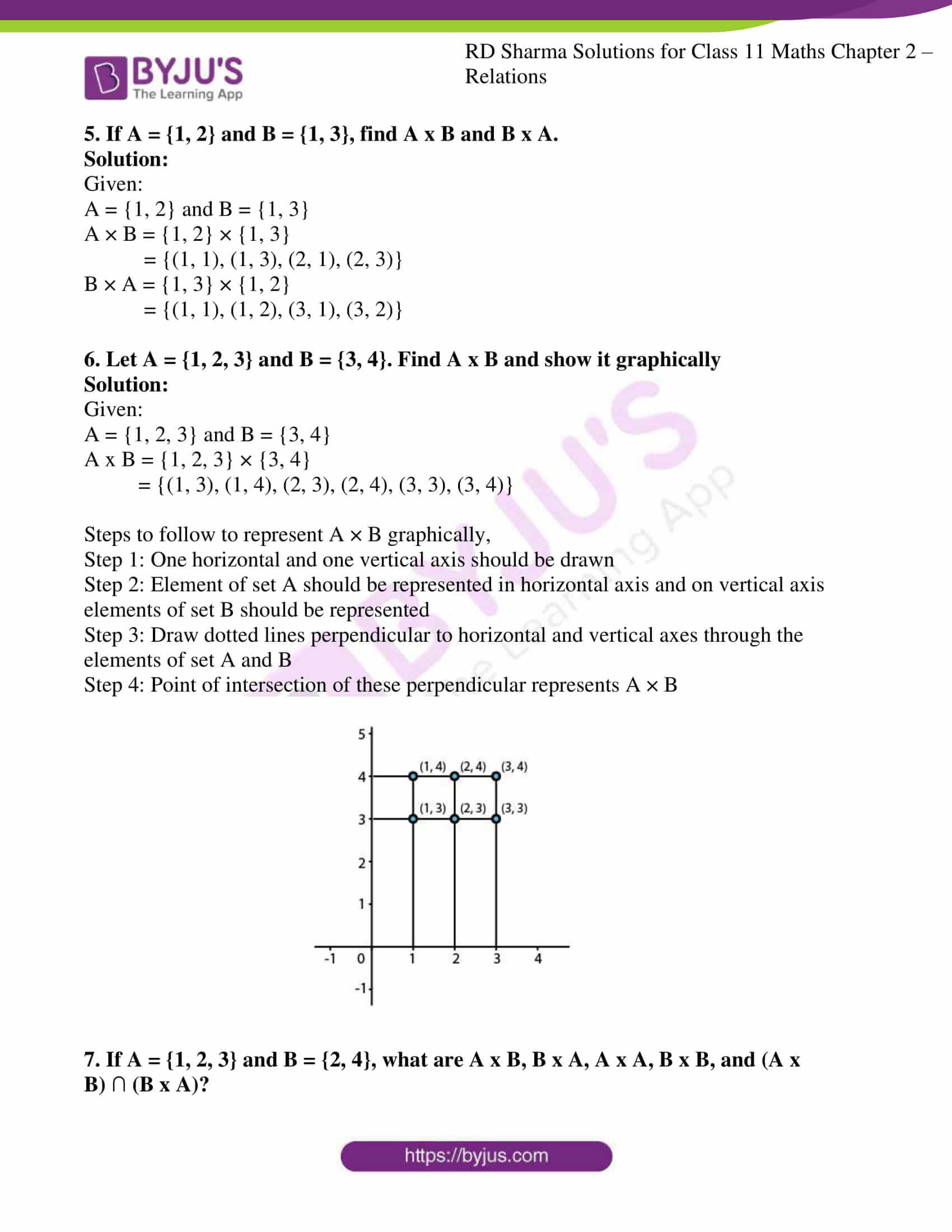 rd sharma class 11 maths ch 2 relations ex 1 3