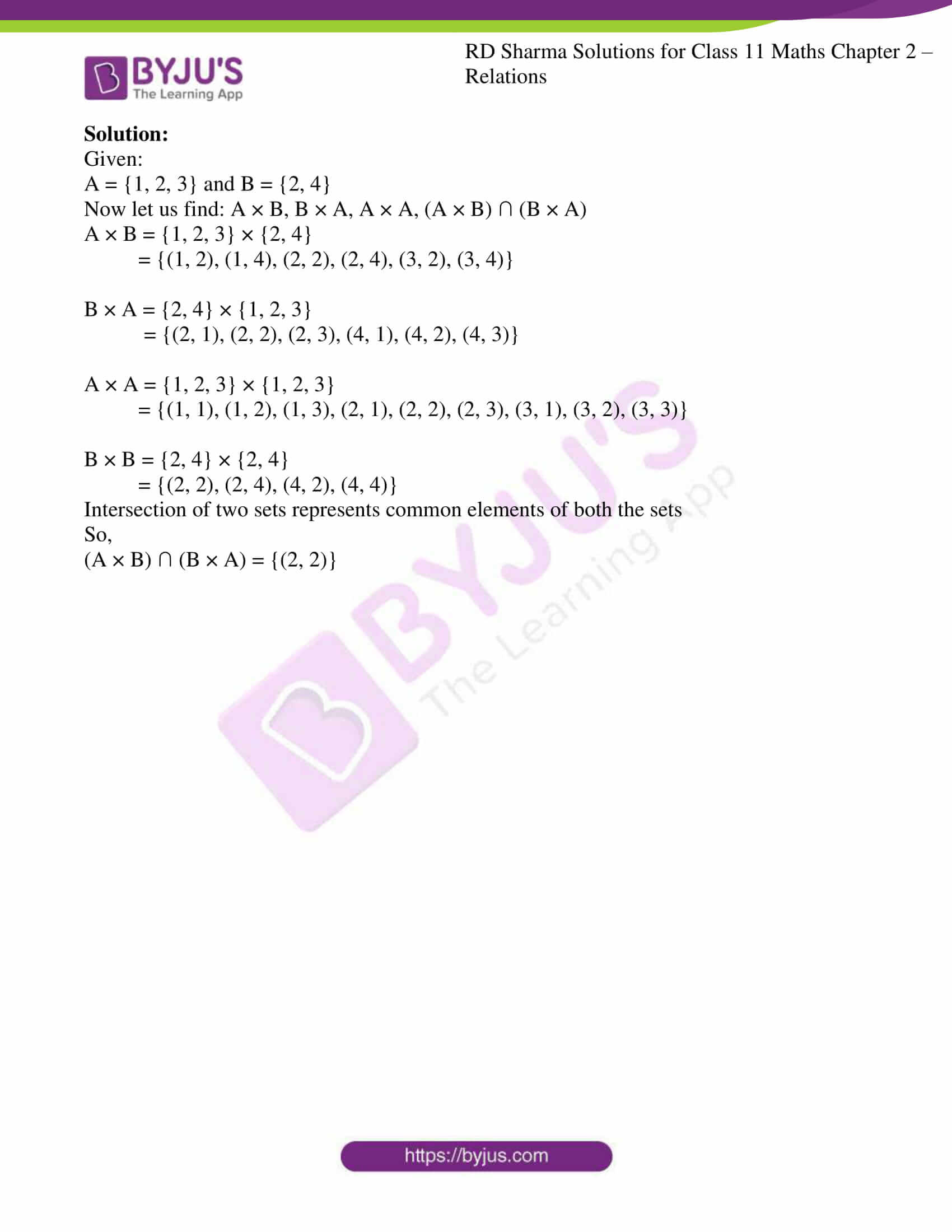 rd sharma class 11 maths ch 2 relations ex 1 4