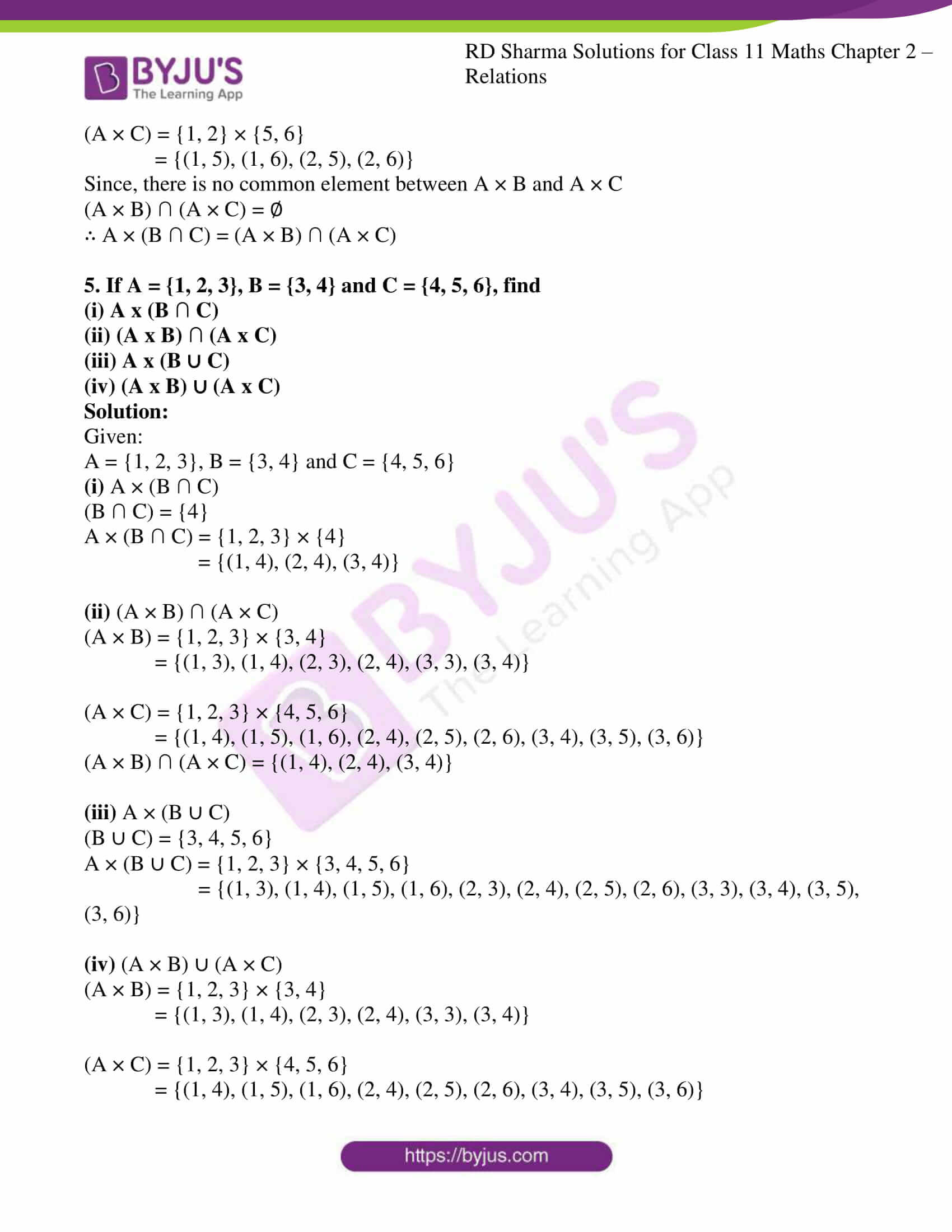 rd sharma class 11 maths ch 2 relations ex 2 4
