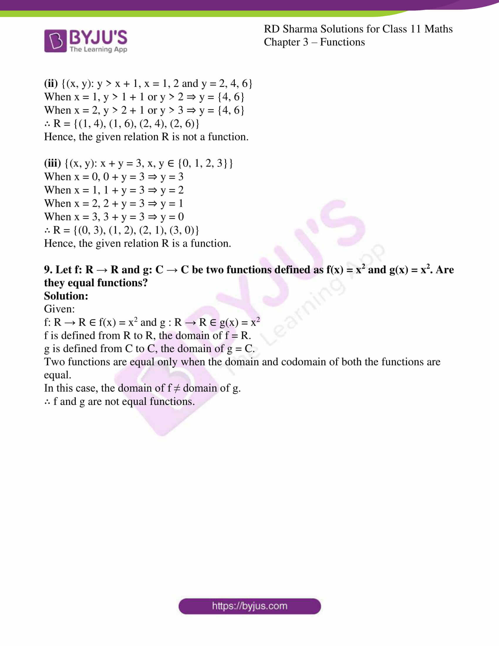 rd sharma class 11 maths ch 3 functions ex 1 6