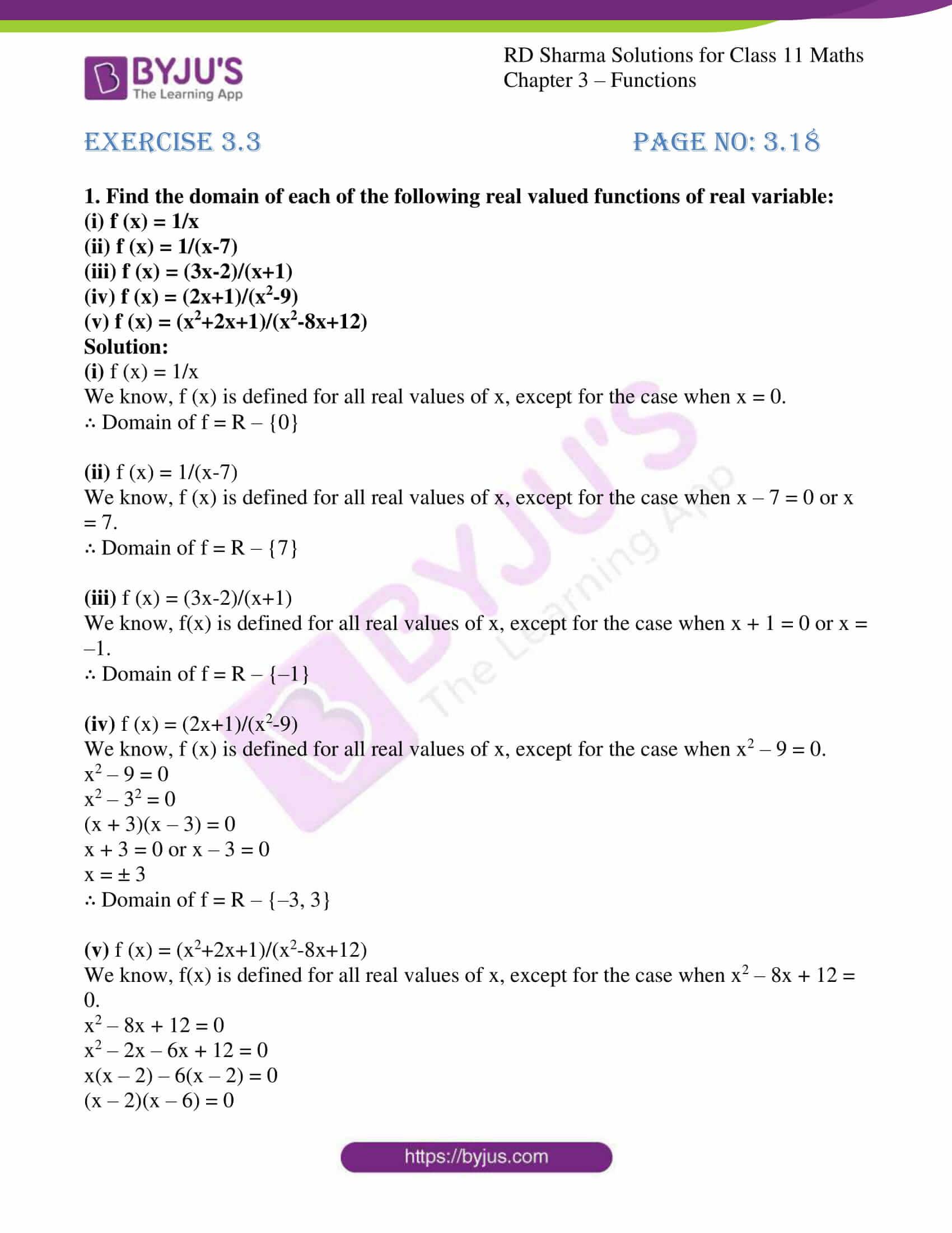 rd sharma class 11 maths ch 3 functions ex 3 1