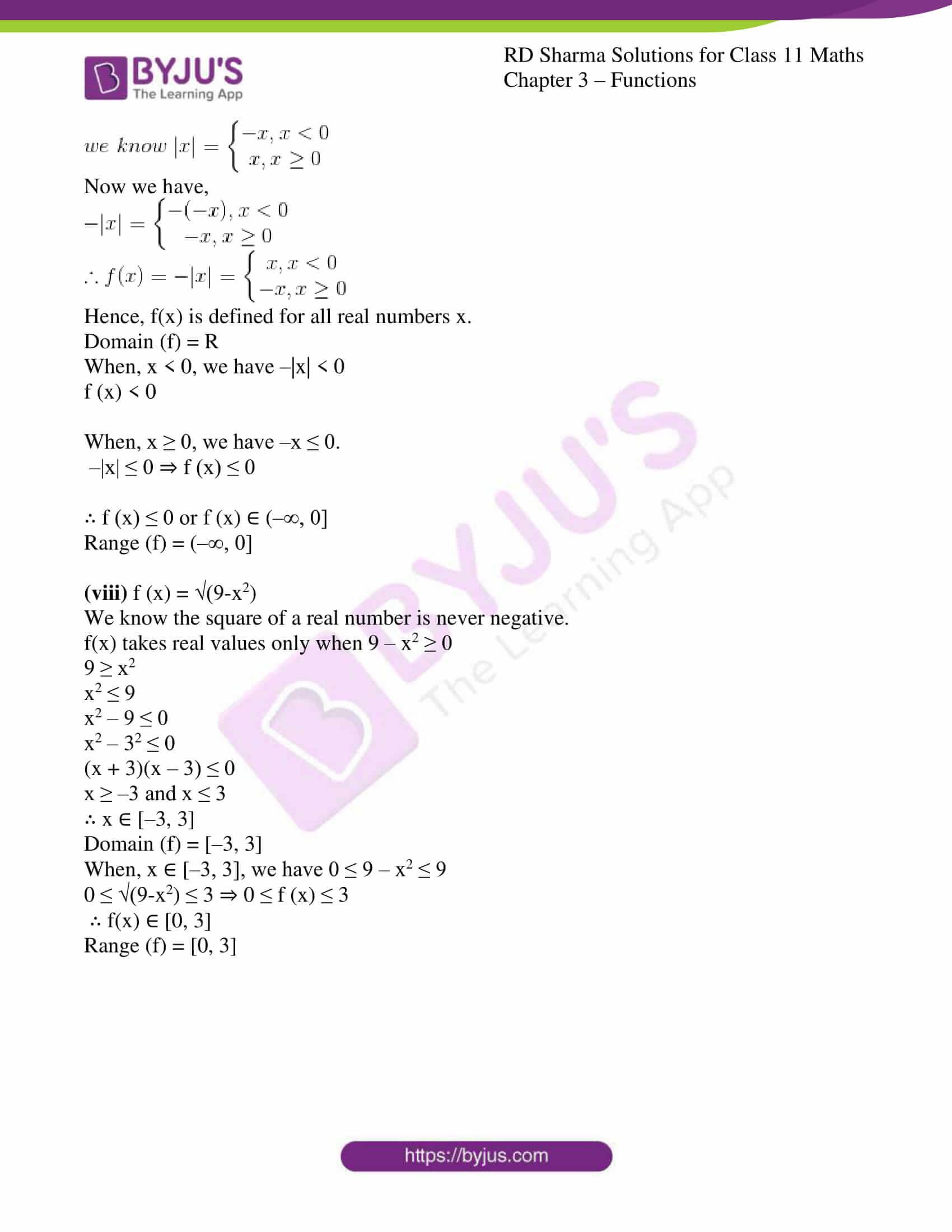rd sharma class 11 maths ch 3 functions ex 3 6