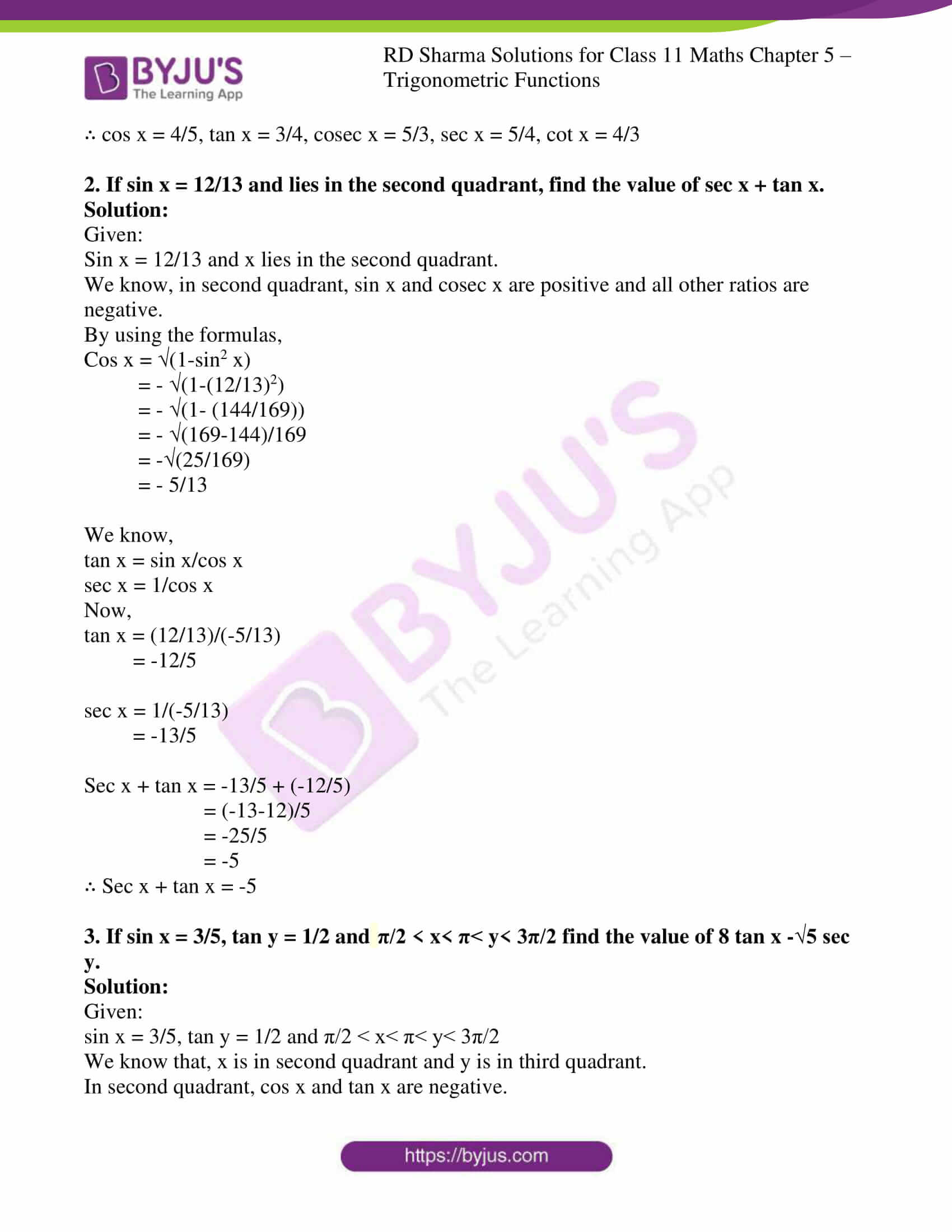 rd sharma class 11 maths ch 5 trigonometric ex 2 4