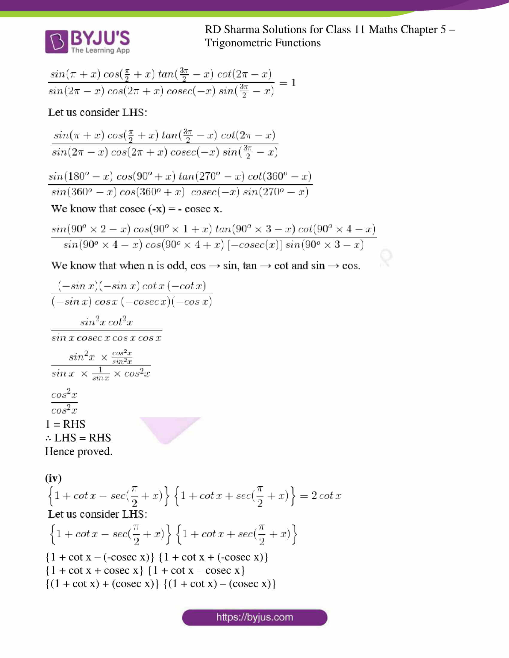 rd sharma class 11 maths ch 5 trigonometric ex 3 09