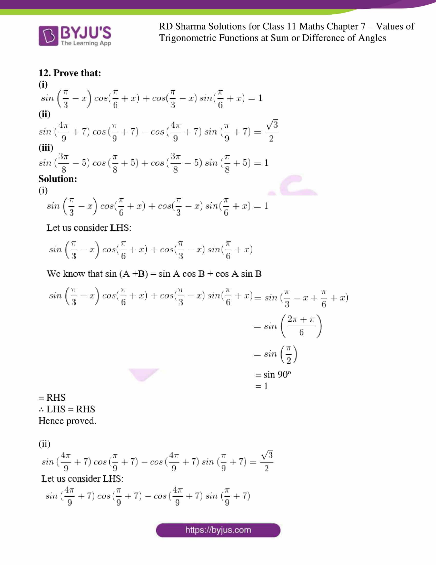 rd sharma class 11 maths ch 7 ex 1 12