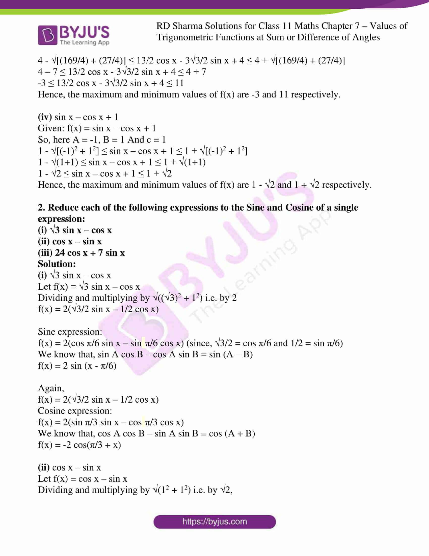 rd sharma class 11 maths ch 7 ex 2 2