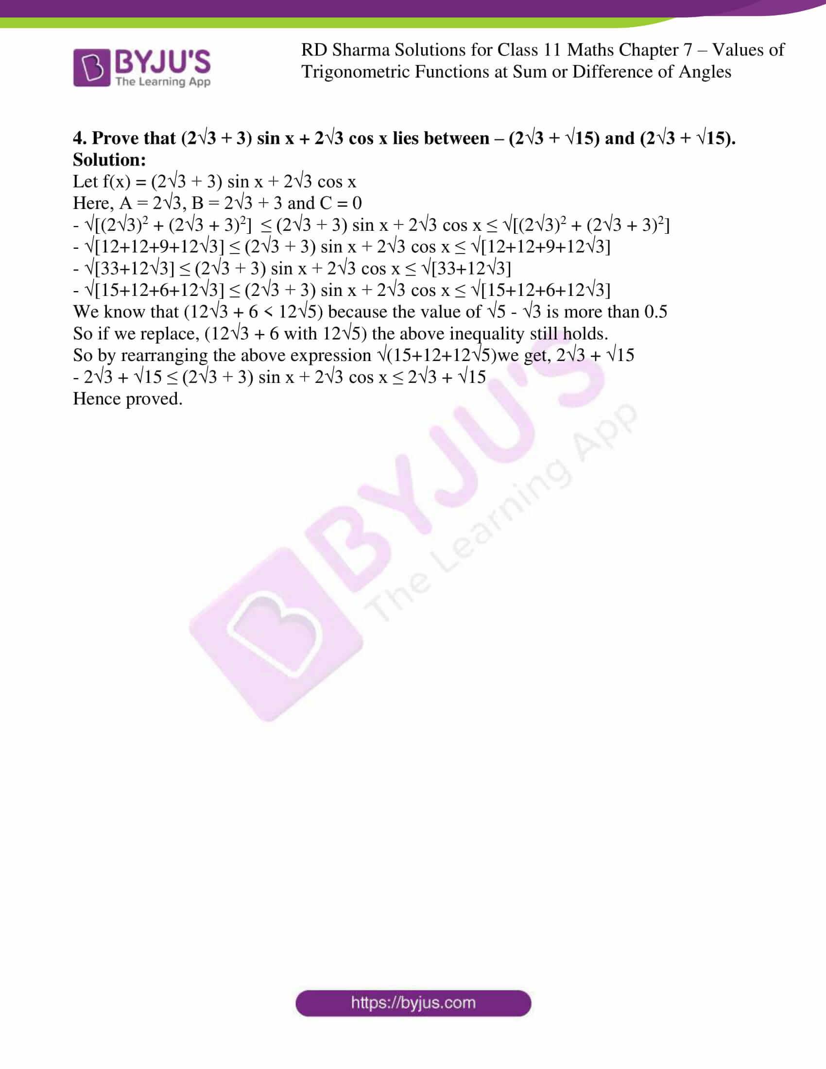 rd sharma class 11 maths ch 7 ex 2 4