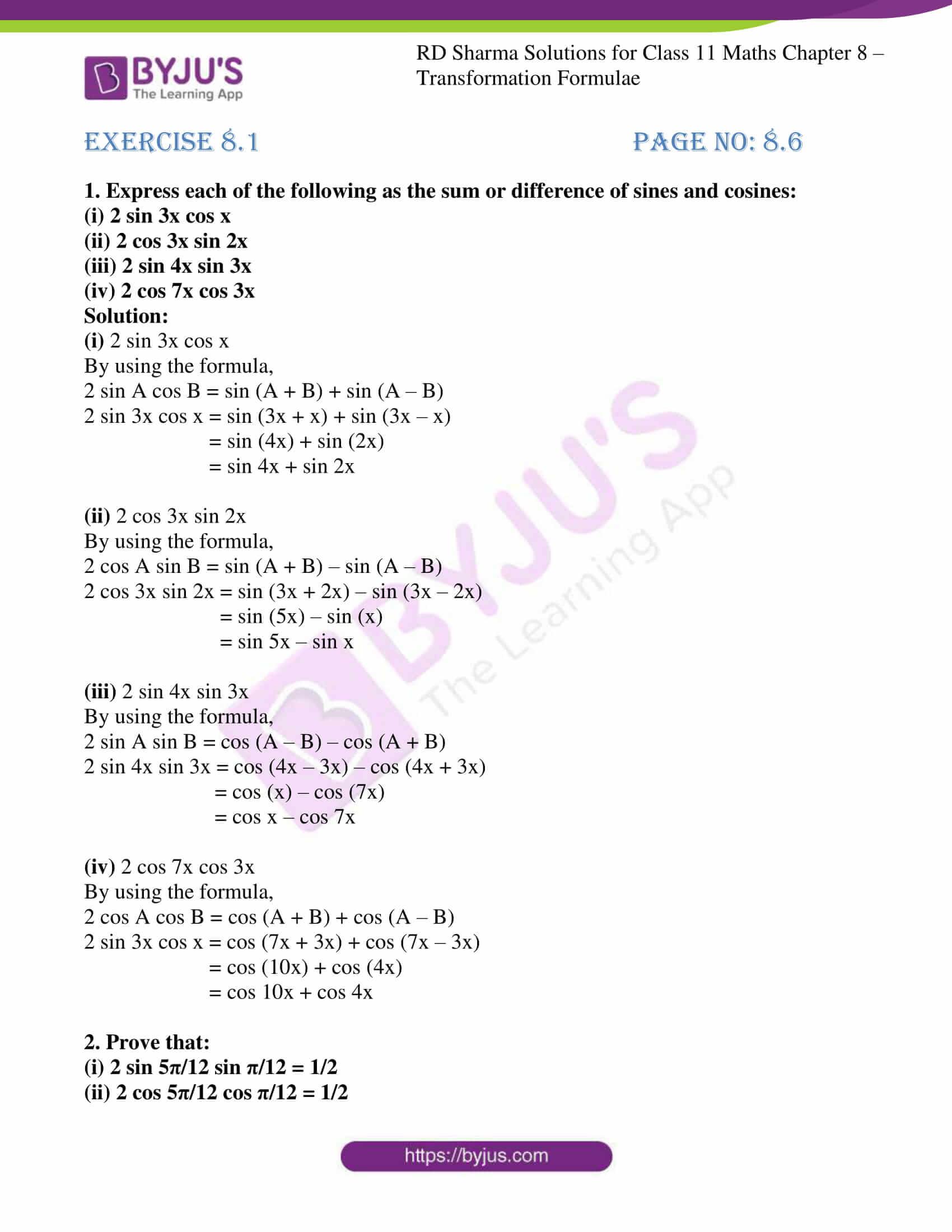 rd sharma class 11 maths ch 8 ex 1 1