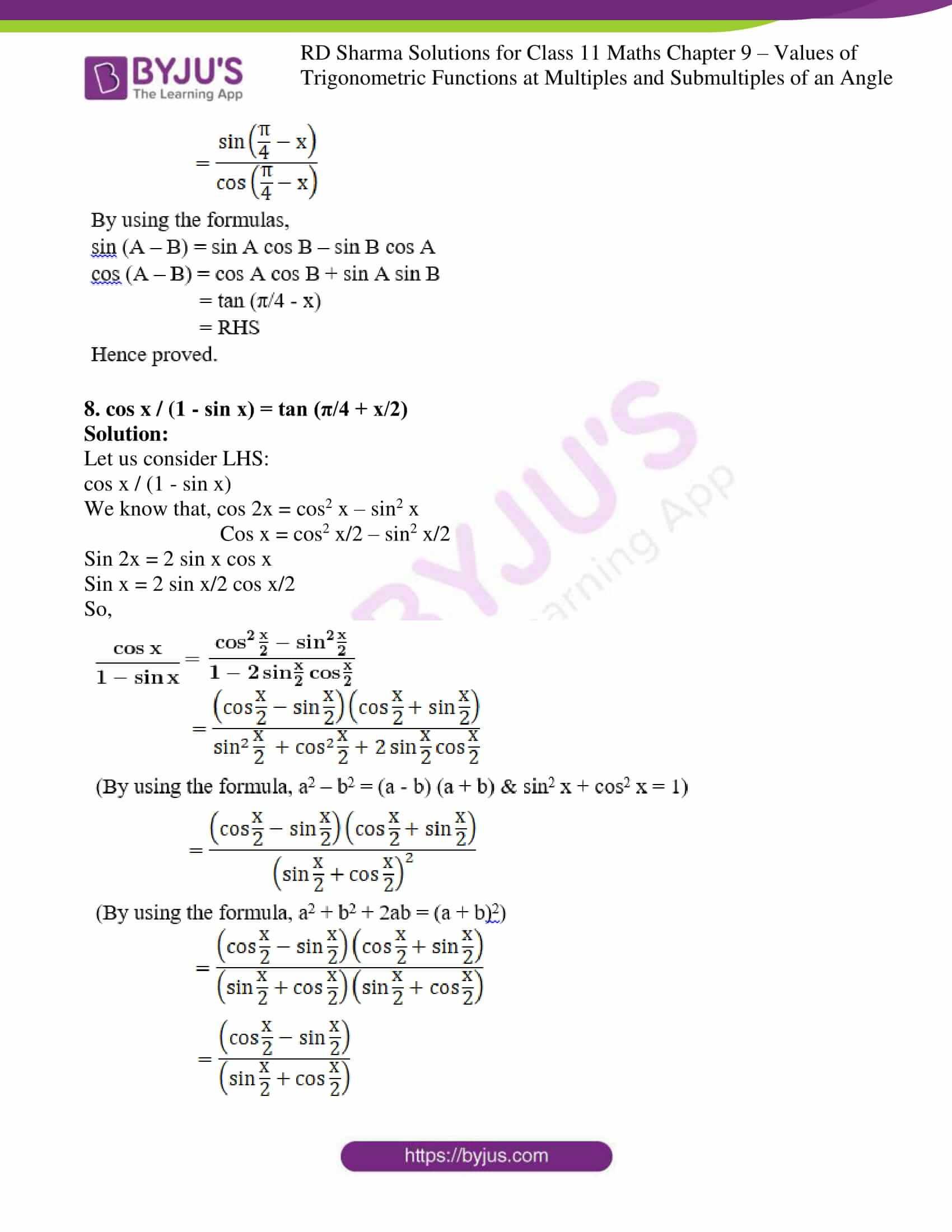 rd sharma class 11 maths ch 9 ex 1 05