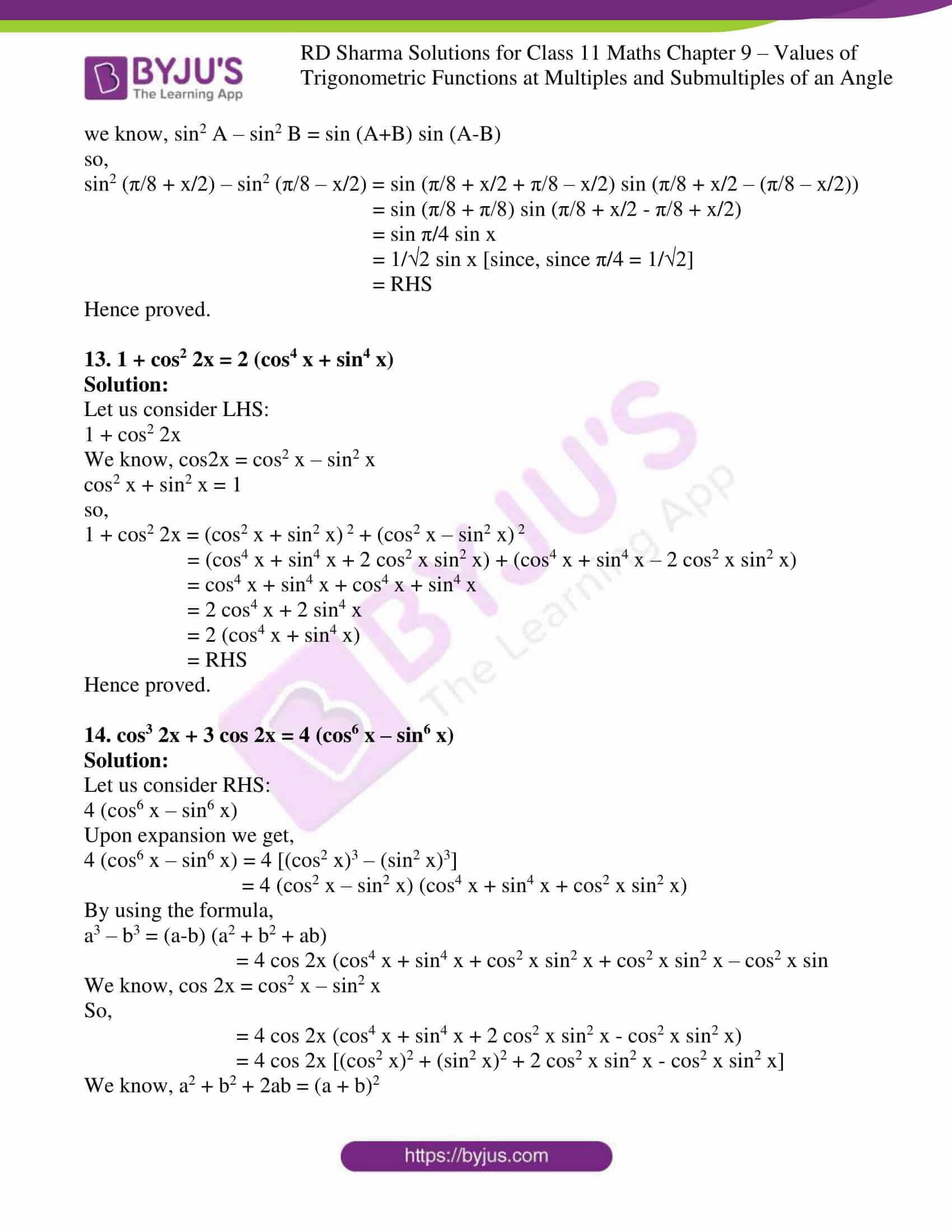 rd sharma class 11 maths ch 9 ex 1 09