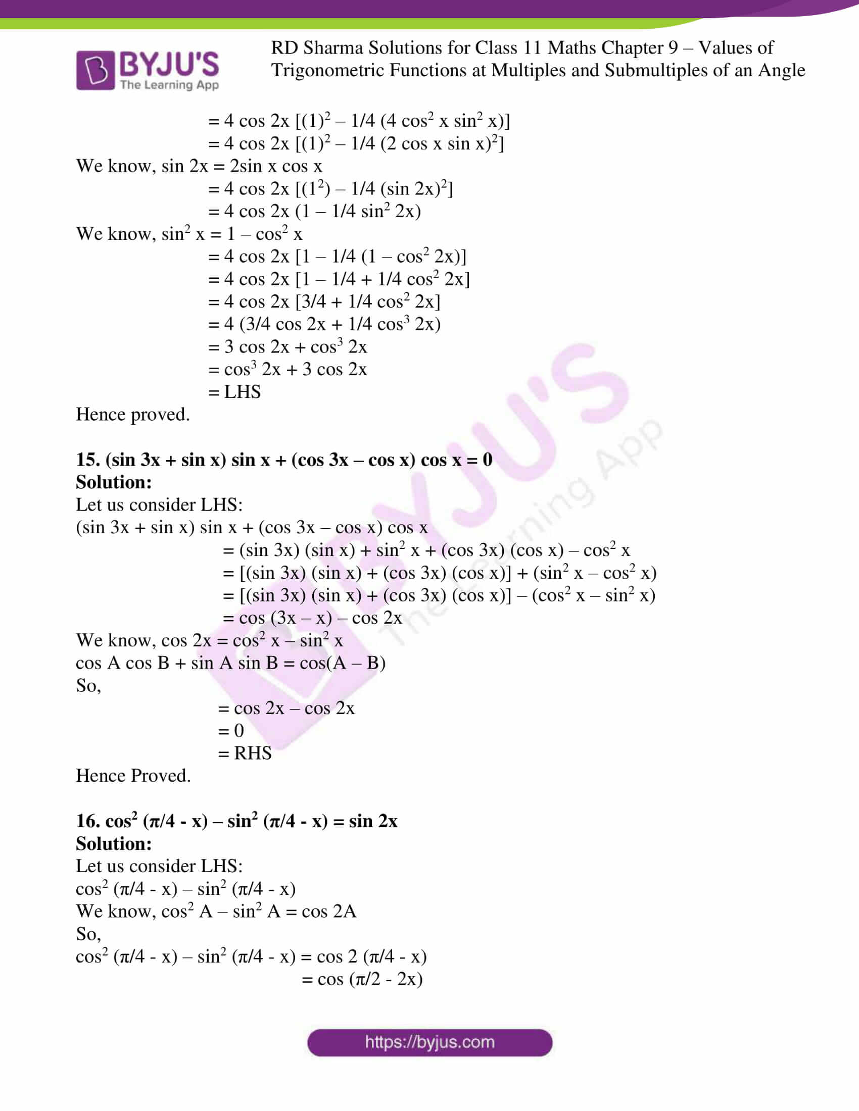 rd sharma class 11 maths ch 9 ex 1 10