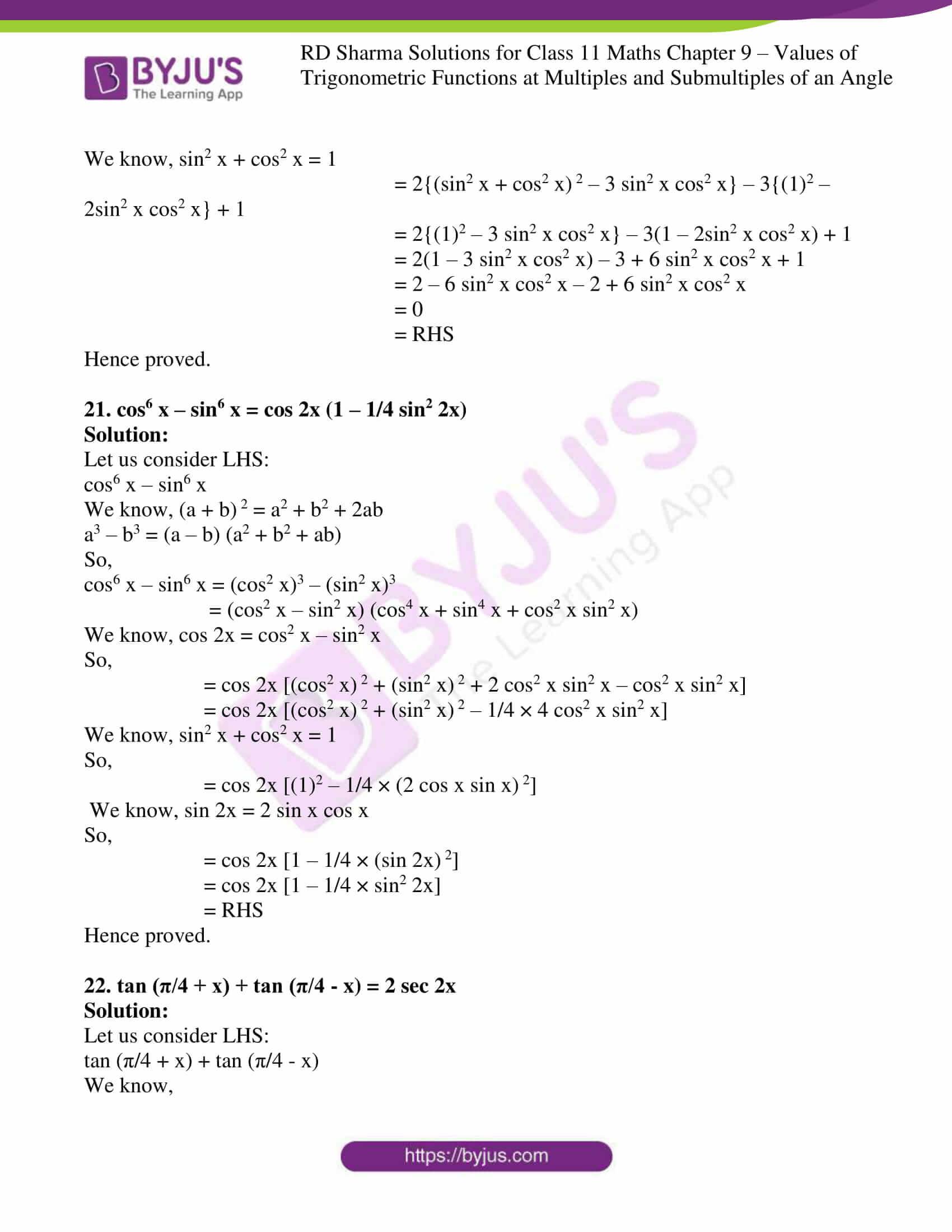 rd sharma class 11 maths ch 9 ex 1 13