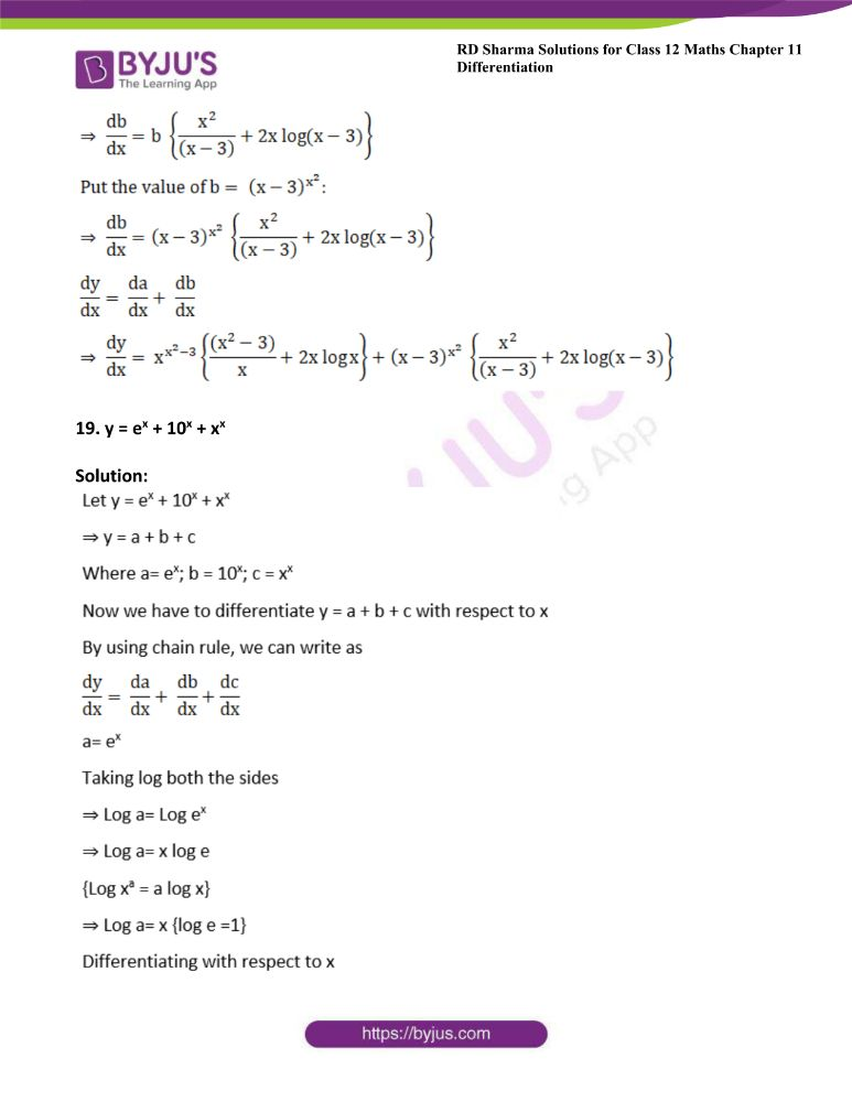 RD Sharma Class 12 Maths Solutions Chapter 11 Differentiation 126