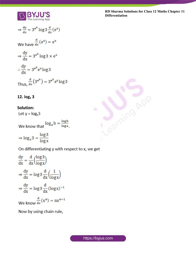 RD Sharma Class 12 Maths Solutions Chapter 11 Differentiation 13