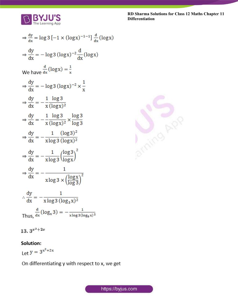RD Sharma Class 12 Maths Solutions Chapter 11 Differentiation 14