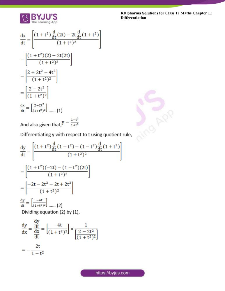 RD Sharma Class 12 Maths Solutions Chapter 11 Differentiation 144