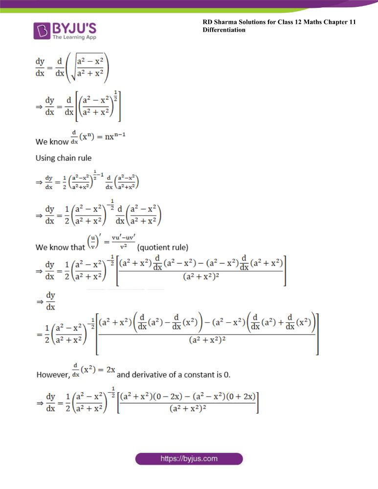 RD Sharma Class 12 Maths Solutions Chapter 11 Differentiation 16