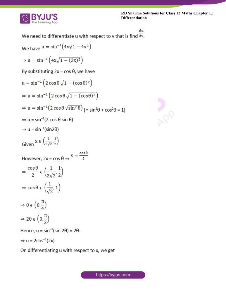 RD Sharma Class 12 Maths Solutions Chapter 11 Differentiation 161