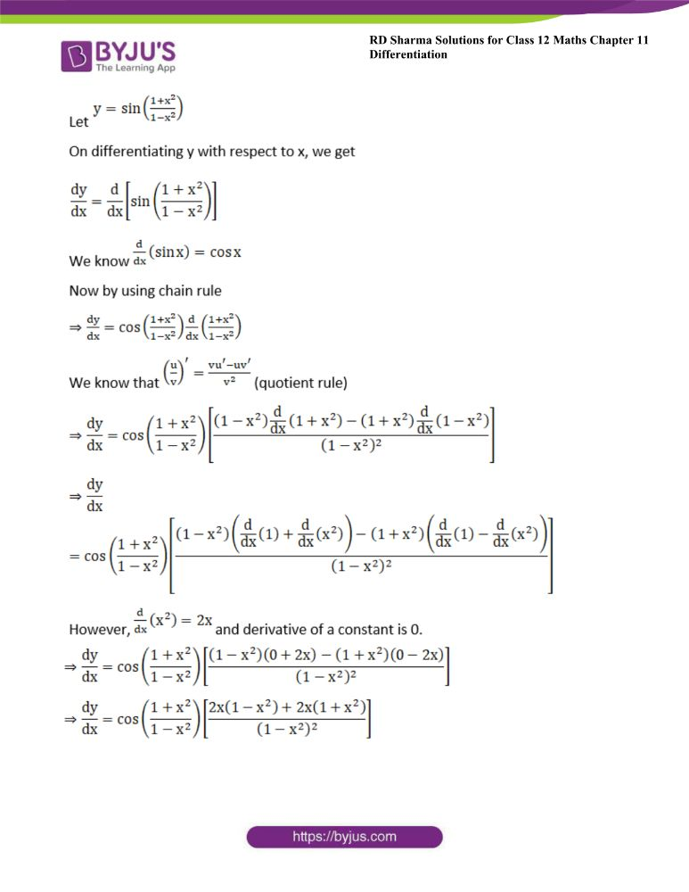 RD Sharma Class 12 Maths Solutions Chapter 11 Differentiation 27