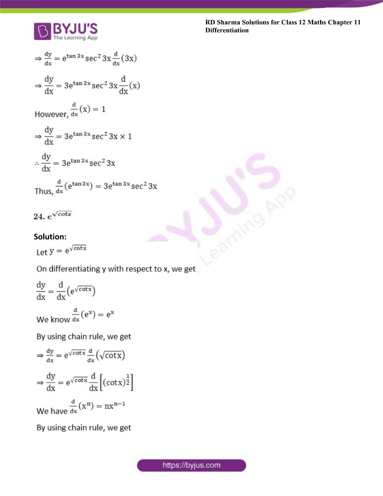 RD Sharma Class 12 Maths Solutions Chapter 11 Differentiation 31